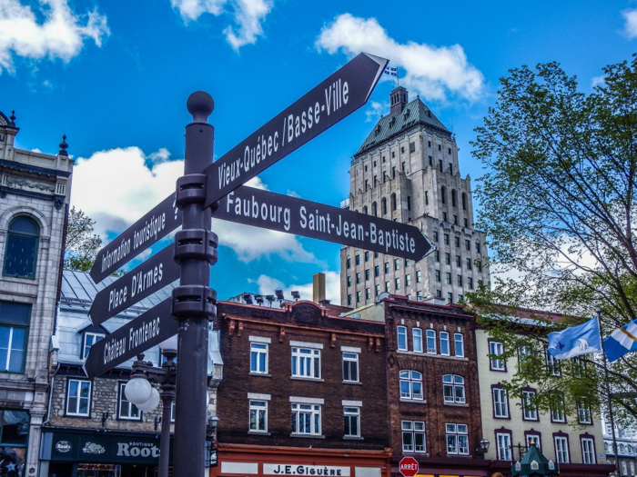 The Best Spots to Eat + Drink in Québec City| old quebec city sign