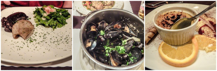 Dinner at Cafe St. Malo | The Best Spots to Eat + Drink in Québec City | Mussels at Cafe St. Malo | Canada