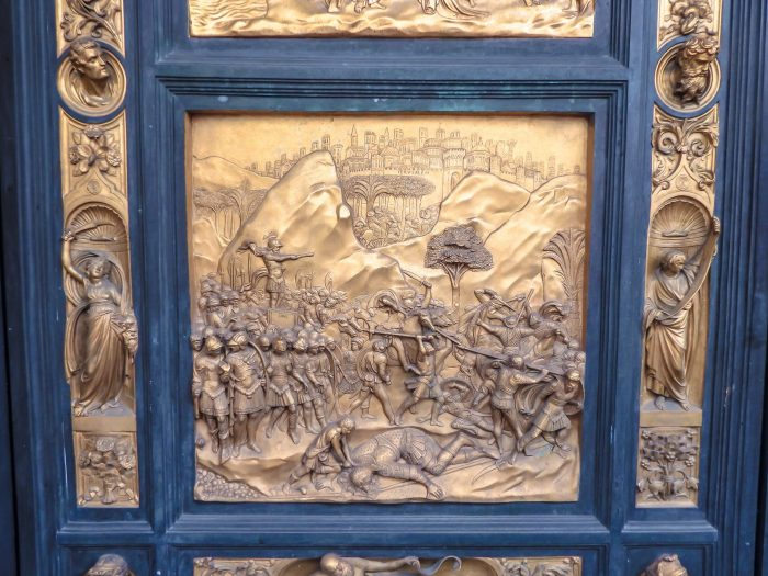 Visiting the Baptistery and the Gates of Paradise in Piazza del Duomo during 2 days in Florence, Italy