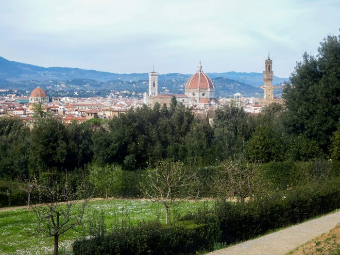The view of Florence, Italy from Boboli Gardens