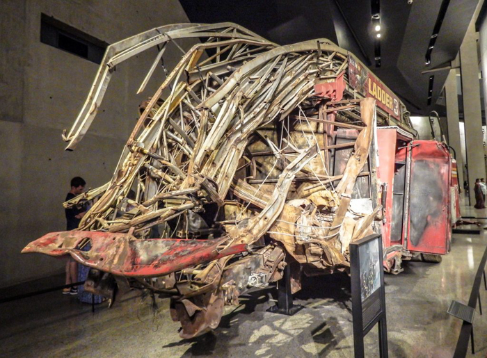 9/11 Museum and Memorial in lower Manhattan, New York City // Ladder 3 firetruck