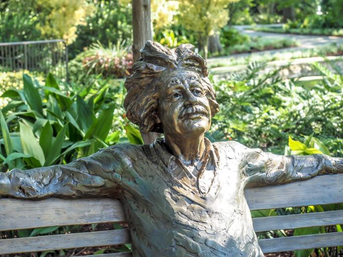 Statue of Albert Einstein at the Dallas Arboretum and Botanical Gardens // Dallas CityPASS