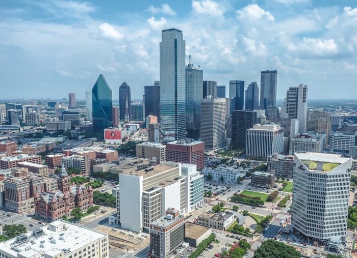 View of downtown at Reunion Tower in Dallas, Texas // Dallas CityPASS