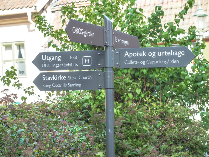 24 hours in Oslo, Norway -- Signs at the Norwegian Folk Museum
