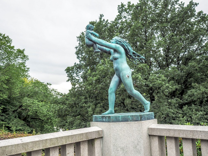 24 hours in Oslo, Norway -- Statues at Vigeland Sculpture Park