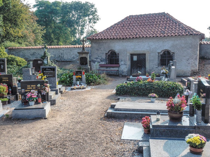 The cemetery outside the Sedlec Ossuary, the bone church of Kutná Hora, Czech Republic--just an hour outside Prague