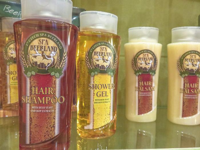 Beer shampoo at the Prague beer spa