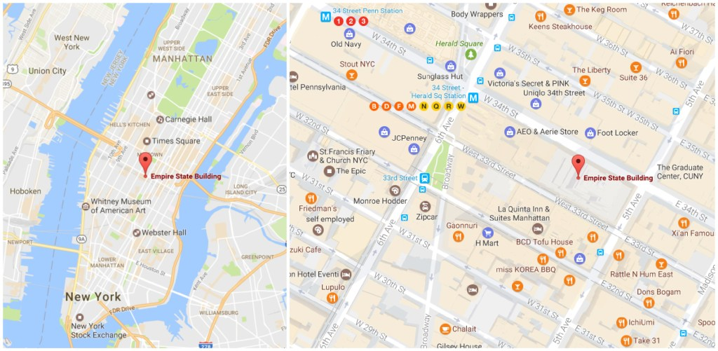 Does the Empire State Building have the best observation deck in New York City? (map)