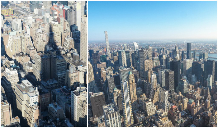 Is the observatory at the Empire State Building the best observation deck in New York City? (skyline and shadow)