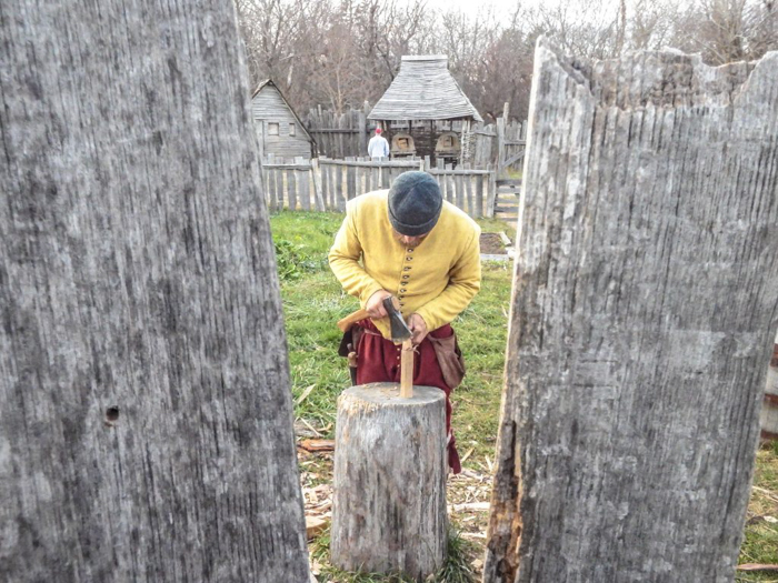 Woodcutter at Plymouth Plantation Thanksgiving Dinner in Plymouth, Massachusetts