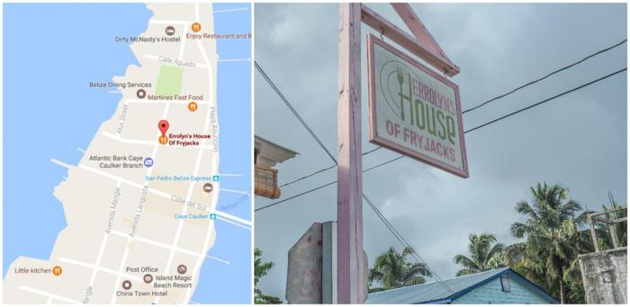 3 days in caye caulker, belize // where to eat, errolyn's house of fryjacks