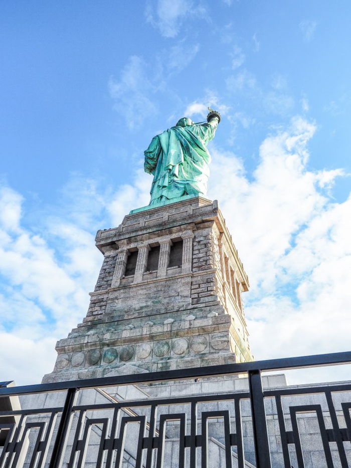 Visiting the Statue of Liberty, New York City // from below