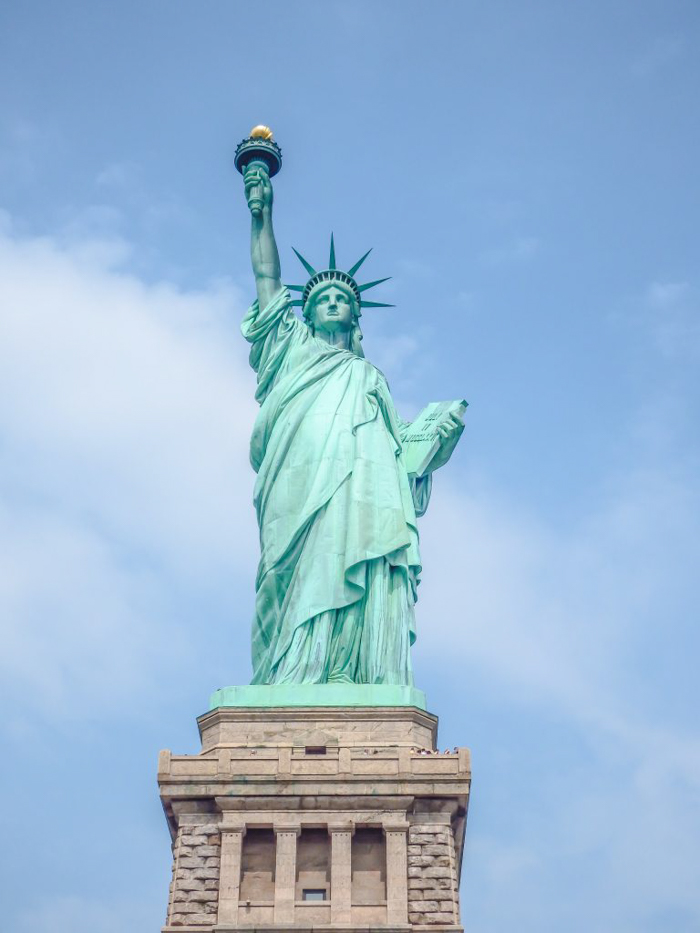 Visiting the Statue of Liberty, New York City // front view // Statue of Liberty