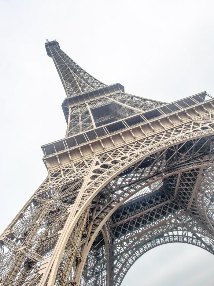 3 days in Paris, France | Paris Museum Pass | Paris Passlib' | Paris Visite | Eiffel Tower | looking up