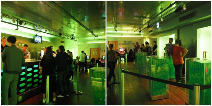 Bar with friends | Personalized Heineken bottle | The Heineken Experience in Amsterdam | the Netherlands | Heineken Brewery | brewery tour | VIP tasting | beer | Amstel | Brand | Affligem | Heineken 41 | beer tasting