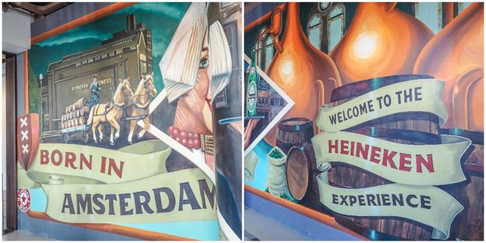 Wall mural | The Heineken Experience in Amsterdam | the Netherlands | Heineken Brewery | brewery tour | VIP tasting | beer | Amstel | Brand | Affligem | Heineken 41 | beer tasting