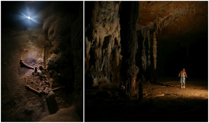 Crystal Maiden and Inside of the ATM Cave in Belize | Map | San Ignacio, Belize | Cayo District | Tapir Mountain Nature Reserve | Actun Tunichil Muknal | Maya | Mayan archaeological site | skeletal remains | Cave of the Sone Sepulcher | Pacz Tours