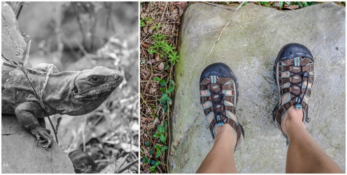 Keen waterproof hiking sandals for the ATM Cave in Belize | Map | San Ignacio, Belize | Cayo District | Tapir Mountain Nature Reserve | Actun Tunichil Muknal | Maya | Mayan archaeological site | skeletal remains | Cave of the Sone Sepulcher | Pacz Tours