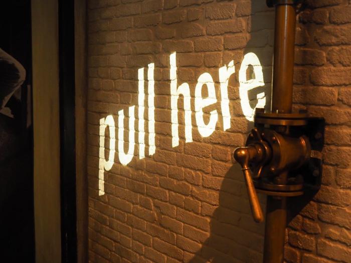pull here | The Heineken Experience in Amsterdam | the Netherlands | Heineken Brewery | brewery tour | VIP tasting | beer | Amstel | Brand | Affligem | Heineken 41 | beer tasting