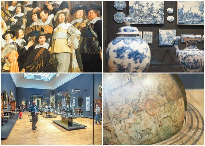 paintings, globe, displays, ceramics at the Rijksmuseum | Amsterdam, Netherlands | Dutch art history