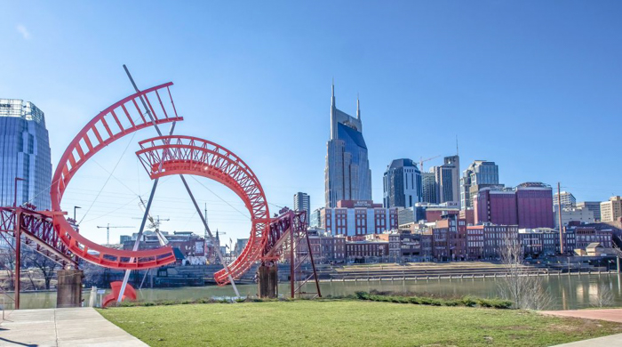 """Skyline of downtown Nashville, Tennessee 