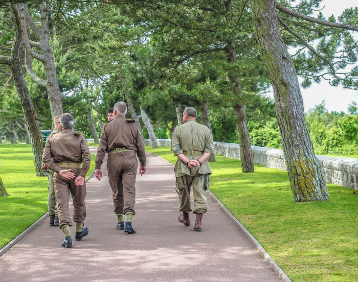 The best D-Day sites to visit in Normandy, France | WWII | WW2 | Normandy American Cemetery | uniformed soldiers