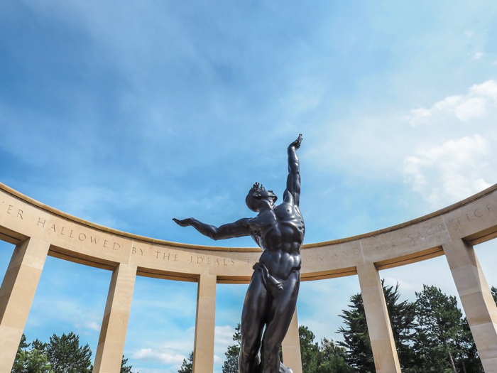 The best D-Day sites to visit in Normandy, France | WWII | WW2 | Normandy American Cemetery | Spirit of American Youth Rising from the Waves