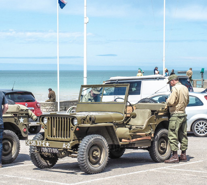 The best D-Day sites to visit in Normandy, France | WWII | WW2 | Arromanches | army soldiers and jeep