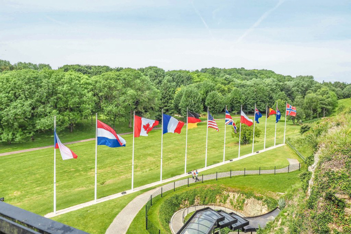 The best D-Day sites to visit in Normandy, France | WWII | WW2 | Caen Memorial and Museum | Gardens and flags
