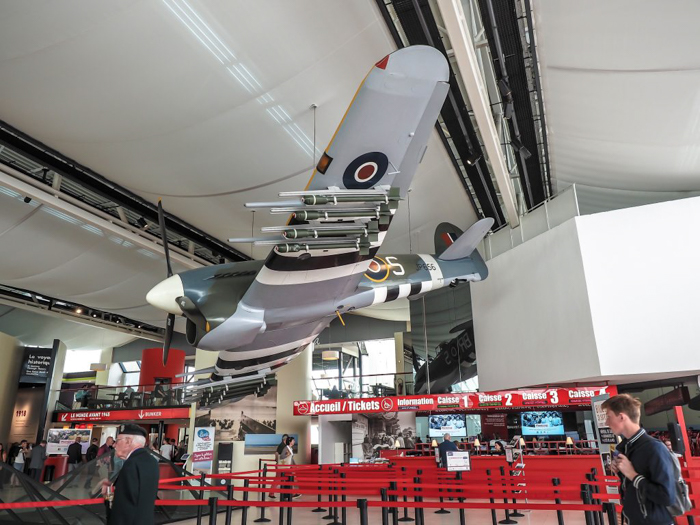 The best D-Day sites to visit in Normandy, France | WWII | WW2 | Caen Memorial and Museum | Hawker Typhoon airplane in the lobby