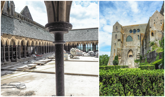 It's actually worth visiting Mont Saint Michel | Normandy, France | Medieval abbey on an island | Bucket list | Disney fairy tale castle inspiration | Mont-St-Michel | cloisters