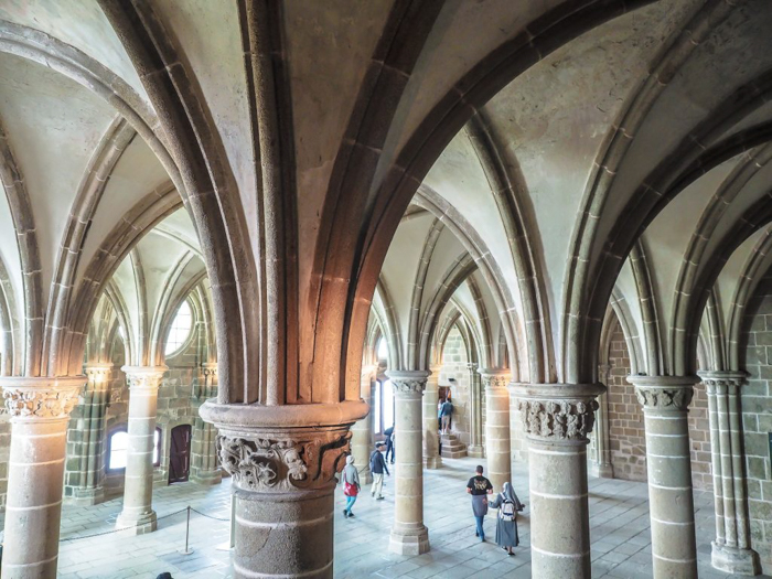 It's actually worth visiting Mont Saint Michel | Normandy, France | Medieval abbey on an island | Bucket list | Disney fairy tale castle inspiration | Mont-St-Michel | interior