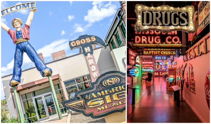 American Sign Museum   Cincinnati, Ohio   Neon signs   How to make   Americana   Private Tour   What to do in Cincinnati   Queen City   Big Boy   American history   Quirky Museums   Unique Museums   Fun things to do in Cincinnati