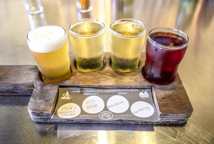 Spend a day in Ybor City | Tampa, Florida | Cigar City Cider and Mead flight