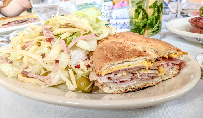 Spend a day in Ybor City | Tampa, Florida | lunch at Columbia restaurant, 1905 salad, cuban sandwich, mojito
