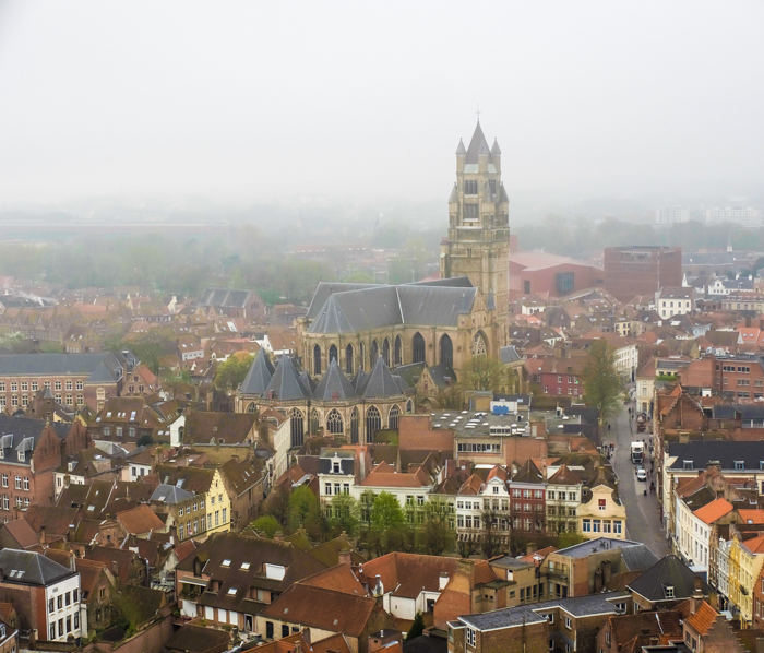 4 days in Belgium | What to do in Bruges | Brugge | Climb the belfry, belfort, clock tower, aerial views