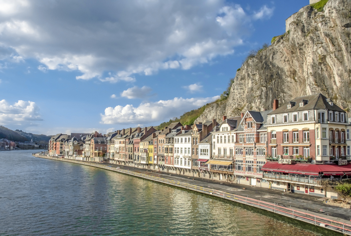 4 days in Belgium | Dinant | riverside buildings