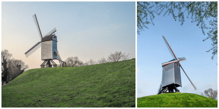 4 days in Belgium | What to do in Bruges | Brugge | Visit the windmills | Sint-Janshuis Mill
