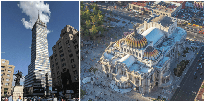 15 essential Mexico City experiences for the best trip ever   Mexico City must-do   Things to do in Mexico City   What to do in Mexico City   CDMX   Mexico DF   Can't-miss Mexico City activities and sights   Mexico City sightseeing   Palacio de Bellas Artes from the Torre Latinoamericana