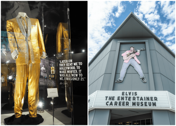 Gold lamé suit at the Elvis the Entertainer museum | 13 Reasons to Visit Graceland in Memphis, Tennessee even if you're not an Elvis Presley fan #Elvis #Graceland #Memphis #traveltips