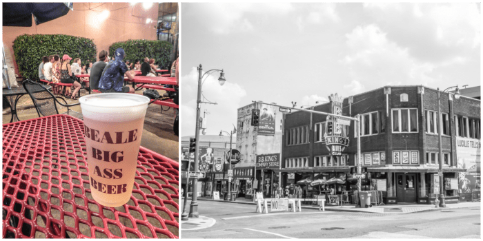 200 things to do in memphis, tennessee for first-time visitors, a local's guide   Beale Street #memphis #traveltips #bealestreet Big ass beer