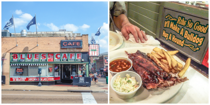 200 things to do in memphis, tennessee for first-time visitors, a local's guide | Ribs at Blues City Cafe on Beale Street #traveltips #memphis #bbq #bealestreet