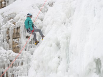 Ice Canyoning in quebec city, canada | rappelling down a frozen waterfall | What is ice canyoning, canada adventure activities, winter adventures