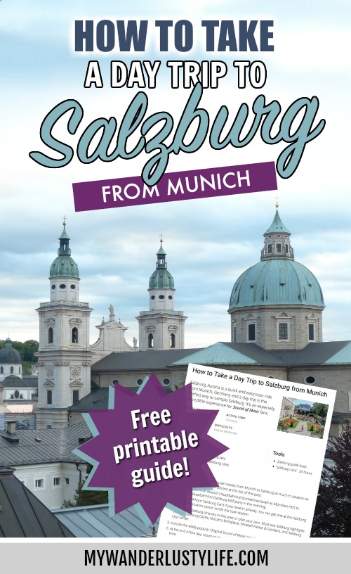 How to take a day trip from munich to salzburg