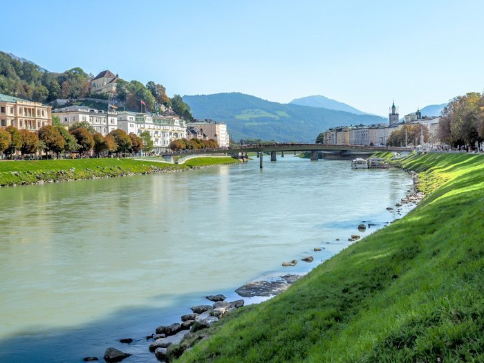 How to Squeeze in a Day Trip to Salzburg from Munich | Austria to Germany | Sound of music, mozart, castle, brewery, museums #salzburg #austria #thesoundofmusic #beer #mozart #daytrip #castle | Salzach river cruise