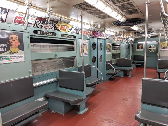 Marvelous Mrs. Maisel car at Brooklyn's New York Transit Museum // Underground and Underrated | The best New York City museum you've never heard of | New York City hidden gem | #NewYorkCity #museum #transitmuseum #brooklyn #nycmuseum #traveltip #timebudgettravel