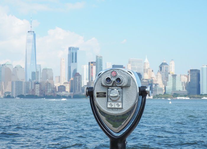 A Time-Budget Traveler's Guide to Visiting Ellis Island in a Hurry   New York City, Manhattan and the Statue of Liberty   United States Immigration Museum   National Park Site #ellisisland #newyorkcity #stateofliberty #nyc #manhattan #ushistory binoculars