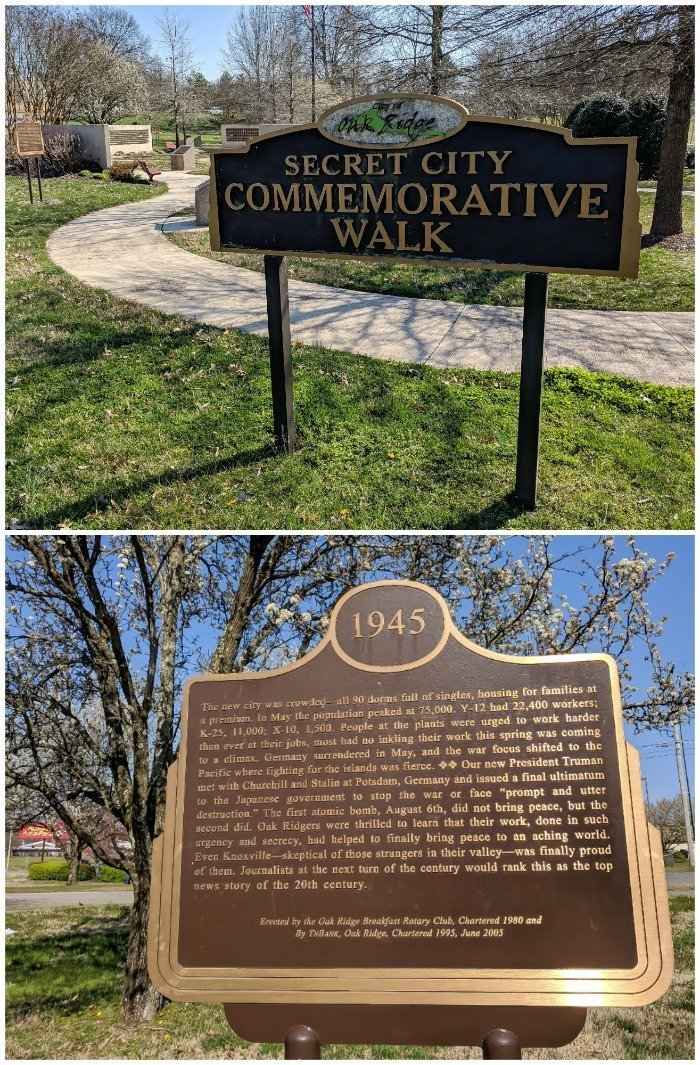 Secret City Commemorative Walk | 7 Ways to Spend a Day in Oak Ridge, Tennessee | Manhattan Project | Atomic bomb | World War II | Department of Energy | Y-12, X-10 graphite reactor | #Oakridge #WWII #manhattanproject #tennessee
