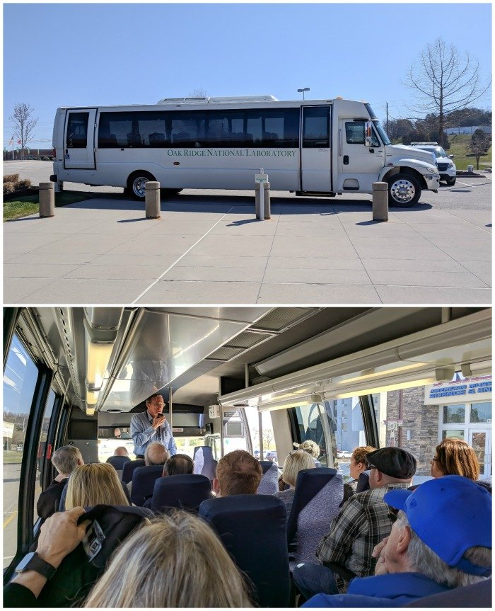 Department of Energy bus tour, Y-12 National Security Complex | 7 Ways to Spend a Day in Oak Ridge, Tennessee | Manhattan Project | Atomic bomb | World War II | Department of Energy | Y-12, X-10 graphite reactor | #Oakridge #WWII #manhattanproject #tennessee
