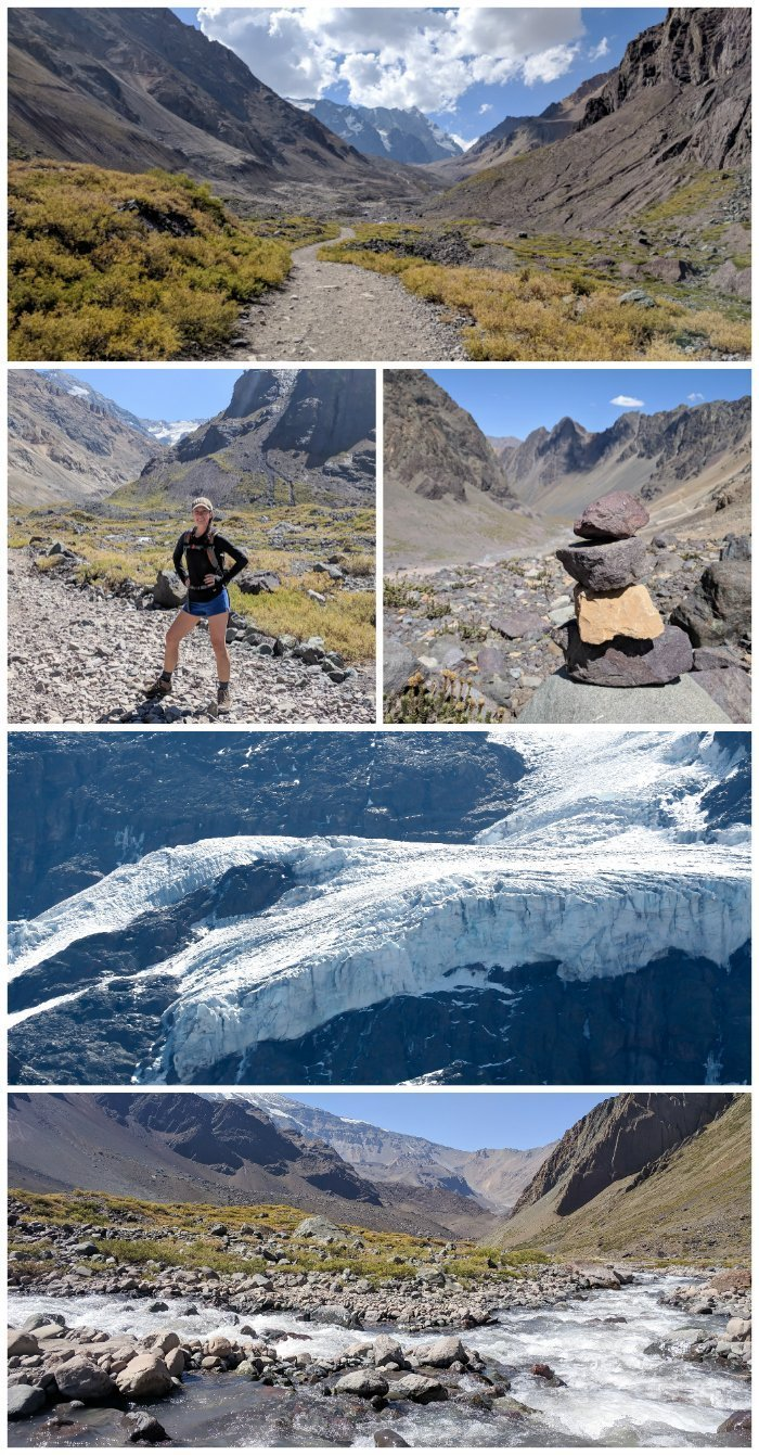 How to Spend One Week in Chile and Cover All the Bases | Hiking in the Andes' Maipo Canyon to Glacier El Morado #chile #whattodoinchile #weekinchile #glacier #andes #mountains #hiking